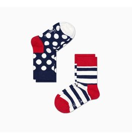 Happy Socks Happy Socks 2-pack Stripes & Dots Red & Blue