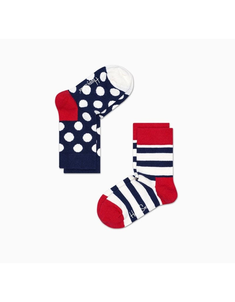 Happy Socks Happy Socks 2-pack Stripes & Dots Red & Blue