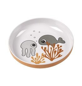 Done by Deer Done by deer yummy mini plate Sea friends Mustard/grey