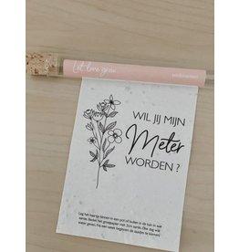 Minimou Minimou Let Love Grow - Wishes in a tube - Wil jij mijn meter worden?