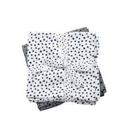 Done by Deer Done by Deer swaddles 2pack happy dots grey 120x120