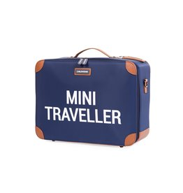 Childhome Childhome Mini Traveller Kinderkoffer Blauw Wit