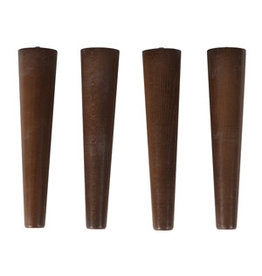 Quax cocoon Set 4 Legs - Walnut