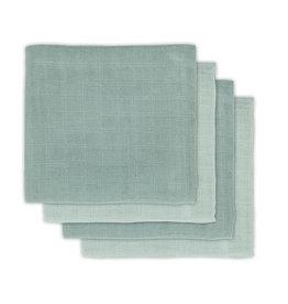 Jollein Jollein multidoeken ash green 70x70 cm 4 stuks