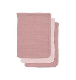 Jollein Jollein washandjes Pale Pink 3-pack