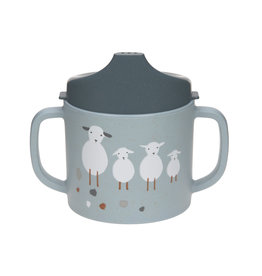 Lassig Lassig Sippy Cup Tiny Farmer Sheep/Goose blue