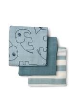 Done by Deer Done by Deer burp cloth Deer Friends blue 3pack