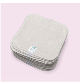 Cheeky Wipes Cheeky Wipes washable cloth bamboo velour baby wipes Nature white
