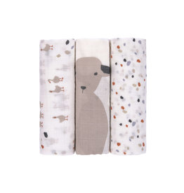 Lassig Lassig heavenly soft swaddle L tiny farmer speckles