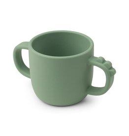 Done by Deer Done by Deer Peekaboo 2-handle cup Croco Green