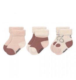Lassig Lassig Newborn socks Pink/offwhite