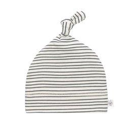 Lassig Lassig baby beanie striped grey antra