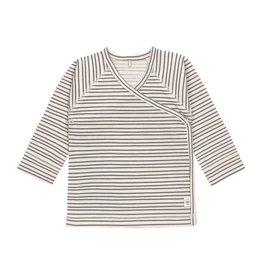Lassig Lassig Kimono shirt GOTS striped grey anthra