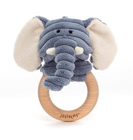 Jellycat Jellycat Cordy Roy Baby Elephant Wooden Ring Toy