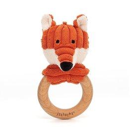 Jellycat Jellycat Cordy Roy Baby Fox Wooden Ring Toy