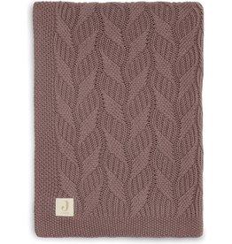 Jollein Jollein Deken wieg 75x100cm Spring knit Chestnut