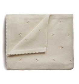 Mushie Mushie Blanket pointelle Ivory