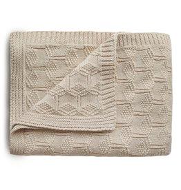 Mushie Mushie Blanket honeycomb Beige