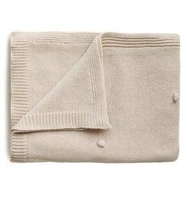 Mushie Mushie Blanket textured dots off white melange