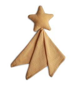 Mushie Mushie knuffeldoekje star fall yellow