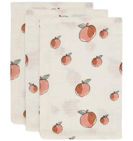Jollein Jollein Washandjes hydrofiel Peach 3 pack