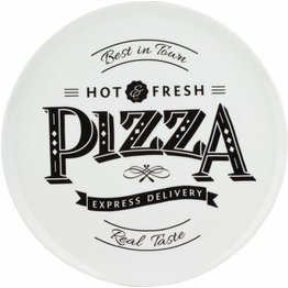 """Pizzateller weiß mit Dekor """"Hot & Fresh"""" Ø 30 cm"""