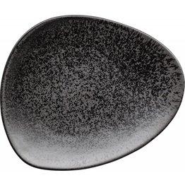 "Porzellanserie ""Ebony"" Teller flach 25x20,6cm"