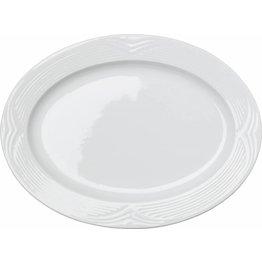 "Hotelporzellan ""Saturnia"" Platte oval, 34 x 24 cm"