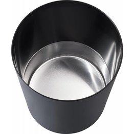 Sicherheitspapierkorb mit Aluminium-Einsatz schwarz