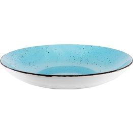 "Porzellanserie ""Granja"" aqua Teller tief Coup-Form, 26 cm - NEU"
