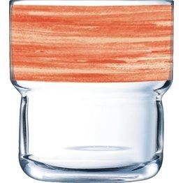 "Glasserie ""Brush"" Orange 220ml - NEU"