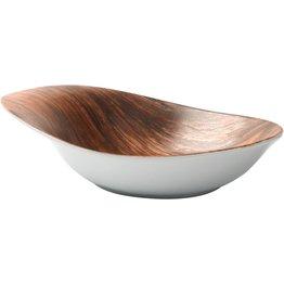 "Porzellanserie ""Wood Design"" Alumina  Schale 26x20 cm - NEU"