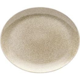 "Porzellanserie ""Shine"" Sahara Platte flach oval, 31x25,5cm - NEU"