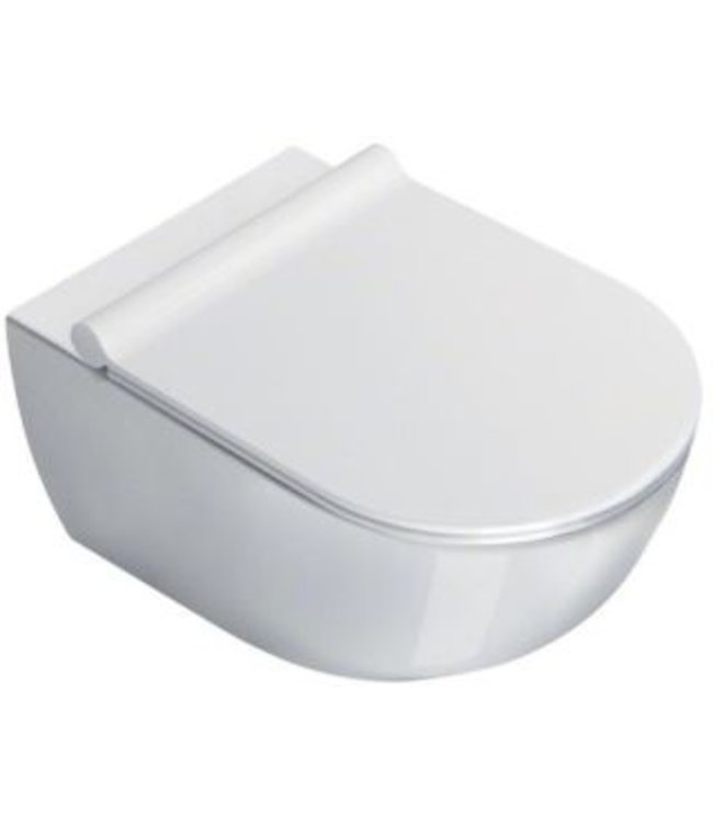 Catalano Catalano Sfera 54 New Flush keramisch wandcloset, diepspoel zonder spoelrand. Kleur wit.