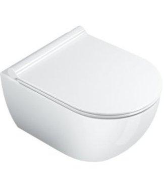 Catalano Catalano Sfera, toilet wand, Sfera, WC, New Flush, wand, verkort 50x35 cm, glans wit.