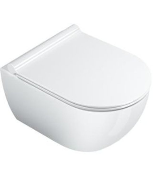 Catalano Catalano Sfera, toilet wand, Sfera, WC, New Flush, wand, verkort 50x35 cm, glans wit.