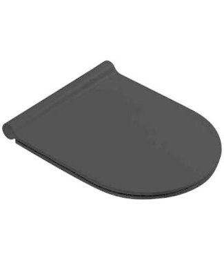 Catalano Catalano Sfera closetzitting met deksel. Met RVS soft close en take off scharnier. Kleur mat zwart.