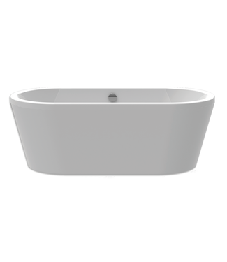 Xenz Xenz NOA 170x80x60 Bicolor wit/cement incl. 7006 badafvoer/vulcombinatie zwart mat Ovaal