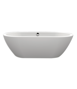 Xenz Xenz Rens XS 155x75x60 Bicolor wit/cement incl. 7006 badafvoer/vulcombinatie zwart mat Ovaal