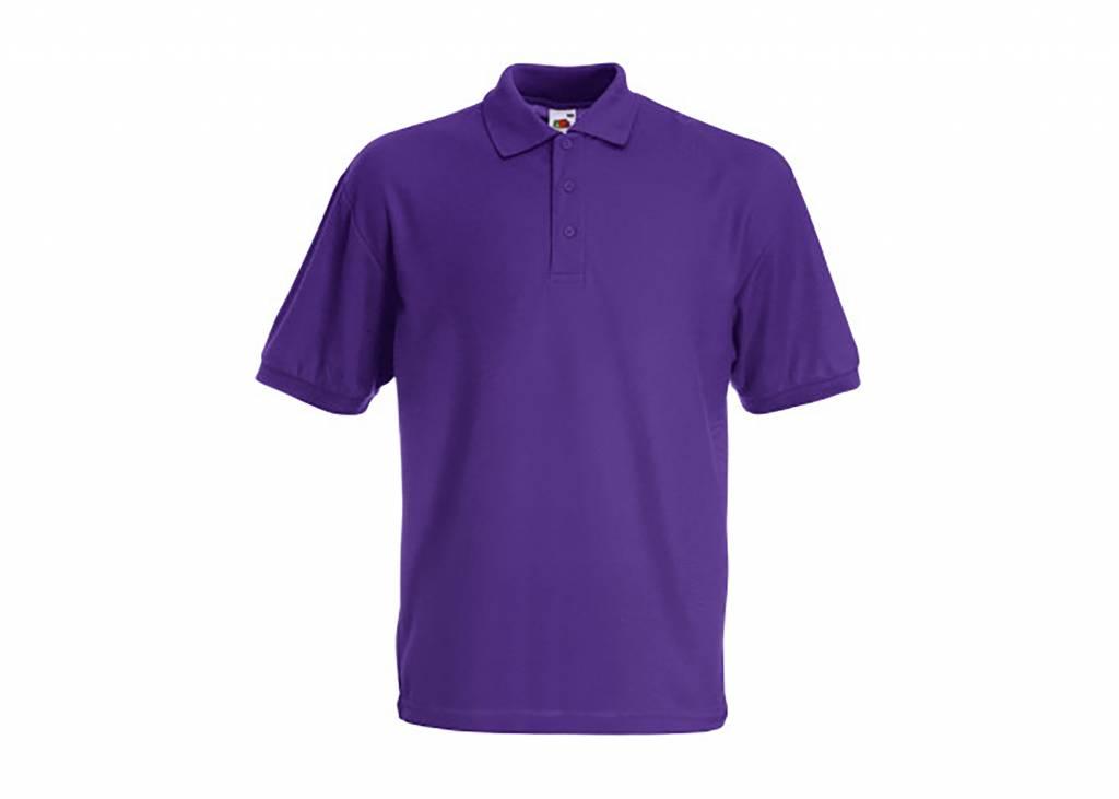 FRUIT OF THE LOOM Polo piqué homme polyester/coton couleurs spéciales