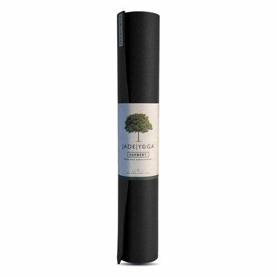 Jade Yoga Harmony Yogamatte 173 cm - Schwarz (5mm)