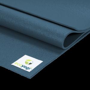 Ecoyogi Studio Yogamatte XL Blau - 200 x 80 cm