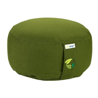 Ecoyogi Meditationskissen rund Grün 100% Bio Baumwolle