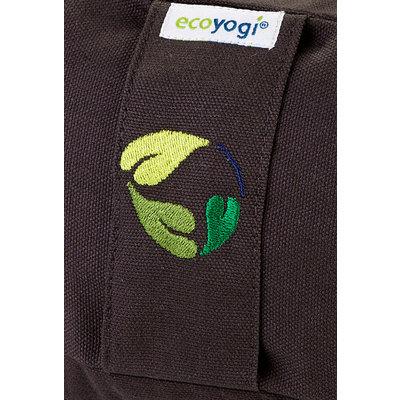 Ecoyogi Meditationskissen Halbmond, Lava, 100% Bio Baumwolle