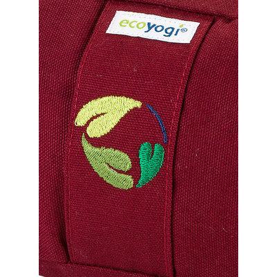 Ecoyogi Meditationskissen Halbmond, Ruby, 100% Bio Baumwolle