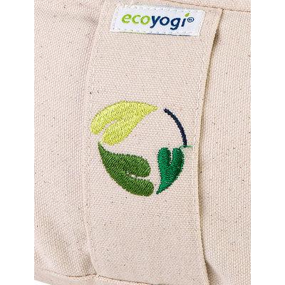 Ecoyogi Meditationskissen Halbmond, Natur, 100% Bio Baumwolle