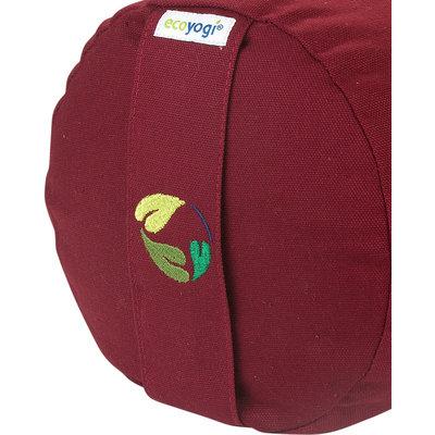 Ecoyogi Yoga Bolster Bordeaux, 100% Bio baumwolle