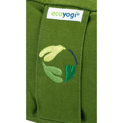 Ecoyogi Meditationskissen Halbmond, Grün, 100% Bio Baumwolle
