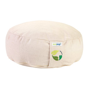 Ecoyogi Meditationskissen Natur - 10-12 cm - 100% Bio Baumwolle
