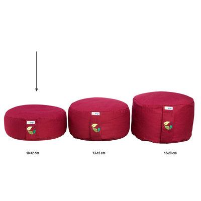 Ecoyogi Meditationskissen Ruby - 10-12 cm - 100% Bio Baumwolle